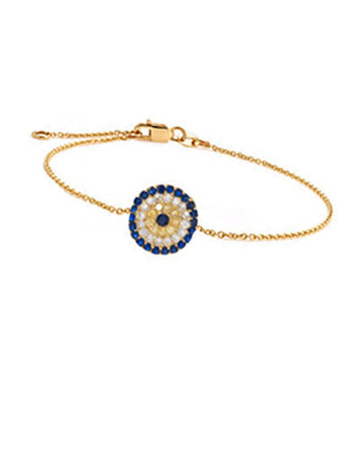 Gemstone Evil Eye Bracelet