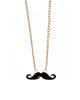 Tiny Mustache Necklace