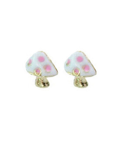 Mushroom Stud Earrings
