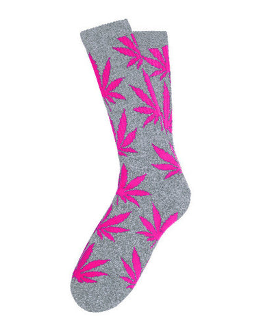 Magenta Plantlife Leaf Socks