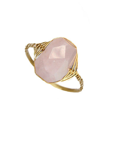 Pink Quartz Wrap Ring