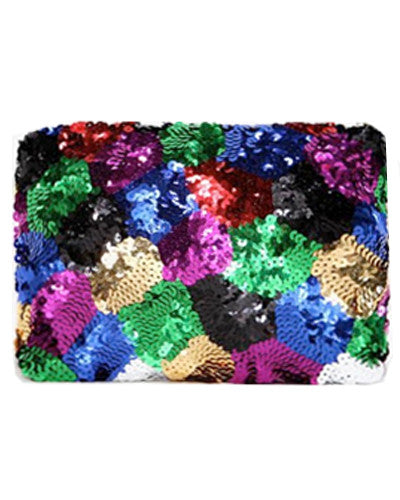 Bright Sequin Clutch