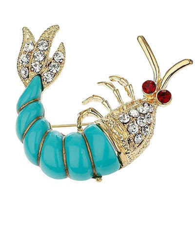 Crawfish Brooch
