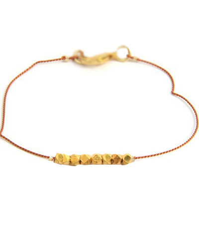 Silk Thread Nugget Bracelet