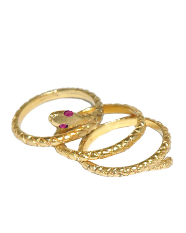 Snake Ring Stack Set