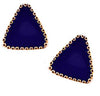Gold Accent Triangle Earrings