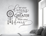 Dream Catcher Quote Vinyl Wall Decal Sticker - lasting-expressions-vinyl