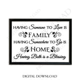 Family Home Blessing Quote Vector Download - Ready to use Digital File, Vinyl Design Saying, Printable Quote, home art, Family Quote - lasting-expressions-vinyl