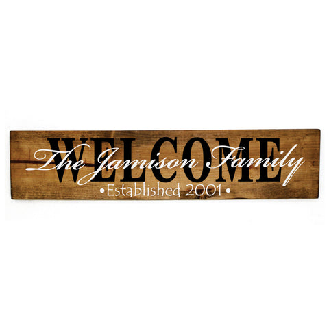 Wood Sign Established Name Welcome Decor - lasting-expressions-vinyl