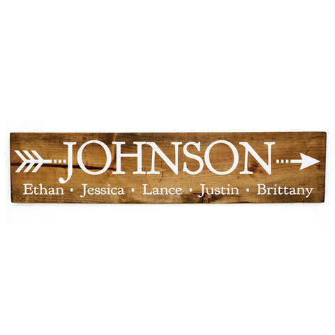 Wood Hanging Family Name Sign - lasting-expressions-vinyl