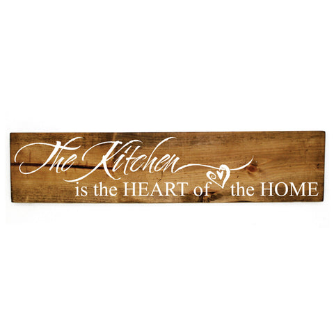 Kitchen Quote Wood Hanging Sign, Wood Wall Decor for Kitchen, Kitchen Heart of this Home, Mom Birthday Gift, Wood Home Wall Decor Quote Sign - lasting-expressions-vinyl