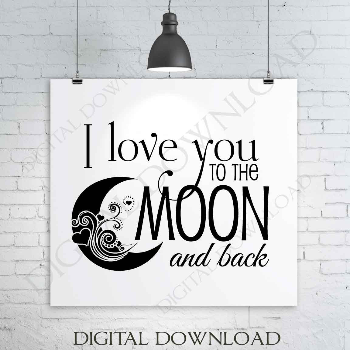 I Love You to the Moon /& Back Black Adult Tank Top