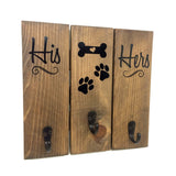 Key Hanger - His and Hers, Puppy Leash Hanger - lasting-expressions-vinyl