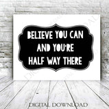 Believe you can Clipart Vector Download - Ready Digital File, Printable Quote, DIY home decor, ai svg pdf, Girls Bedroom, Inspriation Quote - lasting-expressions-vinyl