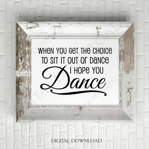 I HOPE YOU DANCE Girls Room Decor Sign Ballet DANCER Plaque Inspirational Wooden