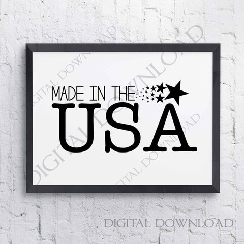 Made in the USA Vector Digital Download - Vinyl Design Saying, Printable Quotes, wall art, Clipart, SVG silhouette, 4th of July Baby shirt - lasting-expressions-vinyl