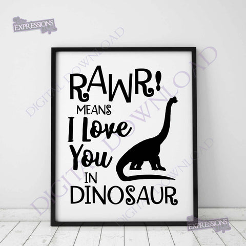 Rawr means I love you in dinosaur Vector Download - Dinosaur Clipart, Vinyl Design Printable Quotes, jpg png svg pdf, Baby Nursery Decor - lasting-expressions-vinyl