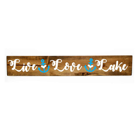 Live Love Lake Decor, Wood Lake Sign - lasting-expressions-vinyl
