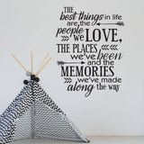 Wall Quote Decal Best things in Life - lasting-expressions-vinyl
