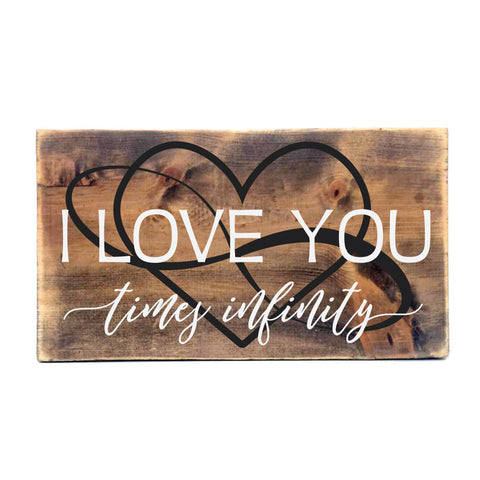 Infinity Wood Sign - I Love you Wall Art - lasting-expressions-vinyl