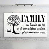 Family Tree Quote SVG, Family Saying to Print, Family Quote DXF Laser Cut File, Family Branches Sign Stencil, Family Tree Clipart Design - lasting-expressions-vinyl
