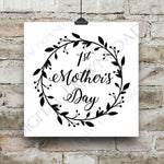 First Mother's Day Designs Vector Digital Design Download - Digital File, Vinyl Design, Print Quote, ai svg pdf, Gift for Mom, New Mother - lasting-expressions-vinyl