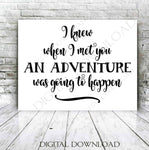 Baby SVG Quote Digital Artwork, Adventure Begin Quote, DXF Cricut Vinyl Design, Nursery Printable Artwork, Vinyl Stencil Sayings to Print - lasting-expressions-vinyl