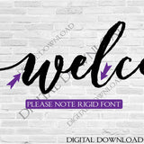 Welcome Die Cut Vector Digital Design Download - Vinyl Design Saying, Printable Quotes, Printable Vector Art, Fonts ai svg pdf jpg - lasting-expressions-vinyl