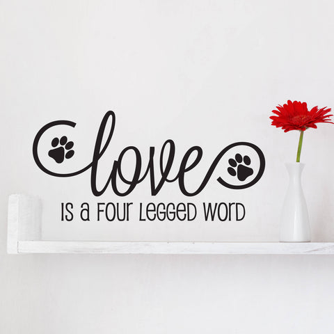Puppy Prints Sticker for Wall, Dog Love Quote Sign, Dog Quote Animal Sign, Pet Saying Car Sticker, Birthday Gift for Dog Parent and Fur Baby - lasting-expressions-vinyl