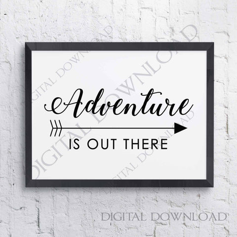 Adventure is out there SVG, Cricut Sayings Svg File, Adventure Quote Printable, Arrow Clipart Svg, DXF Laser Cutting, Extra Large Wall Art - lasting-expressions-vinyl