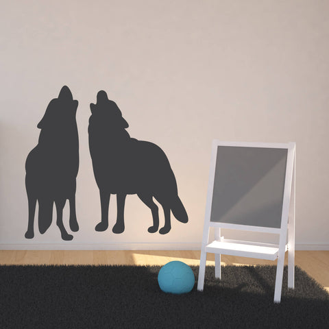 Forest Animal Nursery Home Decor Wolf - lasting-expressions-vinyl