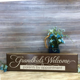 Grandparents Saying Sign Home Decor, Welcome to our Home, Grandparents Welcome, Pregnancy Announcement Gift, Grandma Gift for Mother's Day - lasting-expressions-vinyl