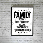 SVG for Vinyl Crafts, Family SVG Quote for Cricut, DXF Laser Cutting File, Png Silhouette Design, Family Saying to Print, Printable Wall Art - lasting-expressions-vinyl