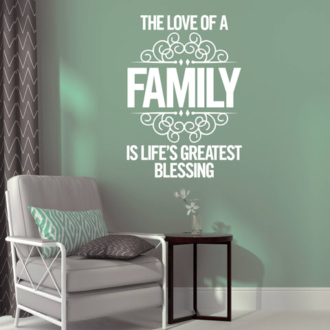 Love Family Wall Words Sticker, Wall Words Home Decor, Family Love Quote Decor, Vinyl Wall Words Decal, Decor for Wall, Family Wall Decal - lasting-expressions-vinyl
