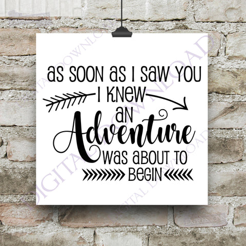 An adventure was about to begin - Vinyl Saying, svg ai pdf, SVG Typography Print, Nursery Decor, Baby Gift, Adventure Quote, Love Sign - lasting-expressions-vinyl