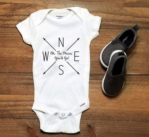 Places you'll go Infant Bodysuit Newborn, Cute Baby Outfit, Baby Shower Gift, Custom Shirts, Kid's Clothes, Children's Book, Newborn Outfit - lasting-expressions-vinyl