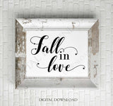 Fall in love script cursive, Love Fall Quote Vector, Digital Typography Print home wall art, Fall Clipart SVG, Thanksgiving Signs, Stencils - lasting-expressions-vinyl