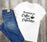 His and Her Shirts, Running on Coffee Beer, Gift New Parents, Gift for Couple, Beer Shirt for Him, Gift for Husband, Cupcakes Coffee Shirt - lasting-expressions-vinyl