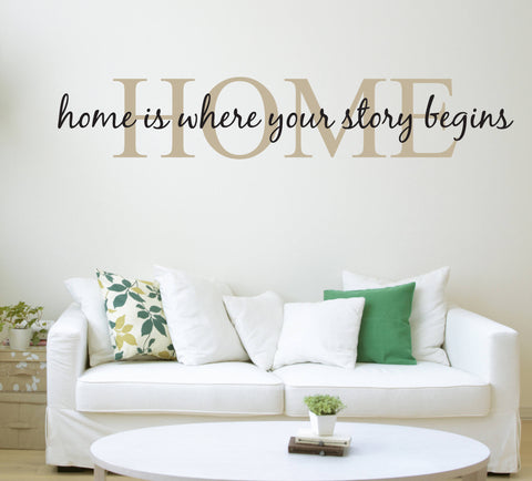 Home is where your story begins Vinyl Wall Sticker - lasting-expressions-vinyl