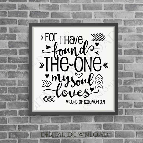 Love Quote SVG Design Vector Digital Download- Typography Print, Vinyl Saying, svg ai pdf, My Soul Loves, Gift for Her, Silhouette Stencil - lasting-expressions-vinyl