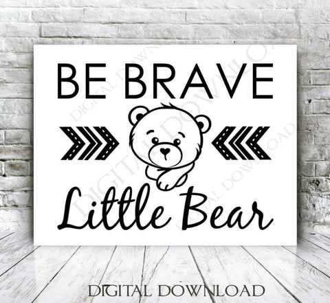 SVG Quote Baby Bear Design, Baby Outfit Vinyl Craft Saying, Boy Nursery Woodland Forest, Printable Home Decor Sayings, Teddy Bear Clipart - lasting-expressions-vinyl