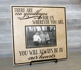 Memorial Quote Picture Frame Sign, In Loving Memory Saying Frame, Funeral Gift After Loss of Loved One, Home Decor Memorial Sign for Parents - lasting-expressions-vinyl