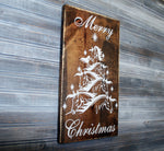 Horse Christmas Tree Merry Christmas Wood Sign - lasting-expressions-vinyl