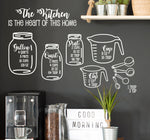 Kitchen Measurement Decals, Measuring Cheat Sheet Sticker, Vinyl Wall Decal, Gift for Mom, Kitchen Decor, Cooking Gift for Her, Mason Jar - lasting-expressions-vinyl