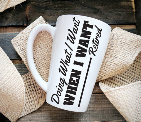 Retirement Gift Ceramic Coffee Mug Quote, Thank You Coffee Cup Gift for Boss, Co-Worker Retirement Party Supply, Retirement Gift for Parent - lasting-expressions-vinyl
