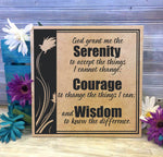 Serenity Prayer Sign God grant serenity courage wisdom, Serenity Saying, Spiritual Motivation, AA Prayer Sobriety Gift, Thank you Friend - lasting-expressions-vinyl