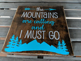 Mountain Adventure Quote Wood Sign Decor Set, Birthday Gift for Her, Mother's Day Gift for Mom, Rustic Boho Home Decor, Friend Moving Away - lasting-expressions-vinyl