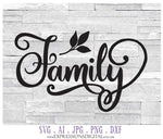 Family SVG Vector Clipart Quotes, Family Die Cut Typography File, DXF Clipart Cut File Design, Silhouette Stencil Craft Design, Family Quote - lasting-expressions-vinyl