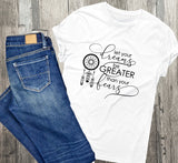 Dream Quote Women's Tshirt, Graphic T with Dream Catcher, Birthday Gift for Her, Women's Racerback Tank Top, Custom Motivation Saying Shirt - lasting-expressions-vinyl