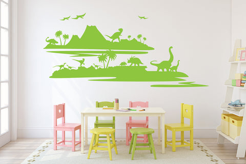 Dinosaur Nursery Wall Art Decor, Vinyl Wall Sticker for Boys Bedroom - lasting-expressions-vinyl